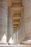 Colonnato in piazza San Pietro Fotografia Stock