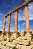 Colonnato romana, Jerash Immagini Stock