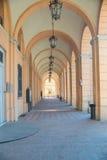 Colonnato in Santarcangelo di Romagna Fotografia Stock