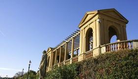 Colonnato in un angolo del palazzo di Pedralbes Fotografie Stock