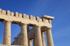 Colonne all'acropoli del Parthenon Immagini Stock Libere da Diritti