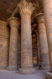 Colonne alte di Magnificient in tempiale di Khnum, Egitto Immagine Stock Libera da Diritti