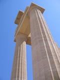 Colonne antiche del tempiale greco Fotografia Stock Libera da Diritti