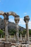 Colonne in basilica cristiana in Filippi Immagini Stock Libere da Diritti
