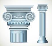 Colonne bleue de la Grèce Vecteur Images stock
