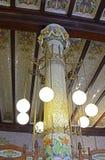 Colonne carrelée dans la station du nord, Valence, Espagne Photo stock