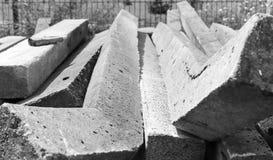 Colonne concrete tedesche della Germania Est del recinto Immagini Stock Libere da Diritti