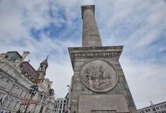 Colonne d'amiral Nelson, vieille ville, Montréal, Canada Image stock