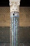 Colonne dans Madrasa de Salé, Rabat-vente, Maroc Photos libres de droits