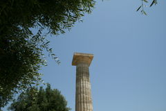 Colonne dans Olympia Photographie stock