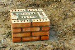 Colonne de bâtiment faite de briques Image libre de droits