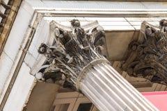 Colonne de galerie nationale sur Trafalgar Square Londres Photos libres de droits
