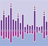 Colonne de graphique Image stock
