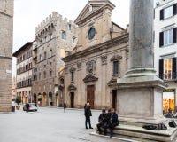 Colonne de juge et de basilique Santa Trinita Photos libres de droits
