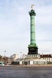 Place de la Bastille à Paris Image stock