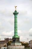 Colonne de juillet chez Place de la Bastille à Paris, France Image libre de droits