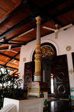 Colonne de la mosquée ou du Masjid Tengkera de Tranquerah Image libre de droits