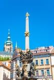 Colonne de la trinité sainte, figures des saints, Prague, représentant tchèque Images libres de droits
