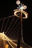 Colonne de lumière de Noël Photo stock