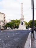Colonne de mémorial de guerre sur Avenida de Liberdade à Lisbonne la capitale du Portugal Images libres de droits