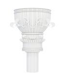 Colonne de marbre décorative sur le fond blanc 3d rendent Image stock