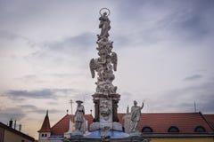 Colonne de peste dans Uherske Hradiste Photographie stock libre de droits