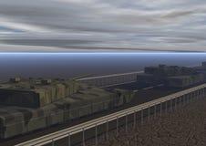 Colonne de T2 de réservoirs Photo stock