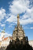 Colonne de trinité sainte - Olomouc - République Tchèque image libre de droits