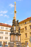 Colonne de trinité sainte, Prague, République Tchèque Photographie stock libre de droits
