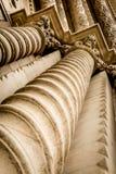 Colonne decorate della colonna Fotografia Stock