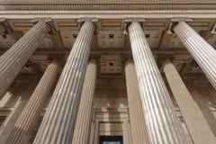 Colonne del British Museum Immagini Stock Libere da Diritti