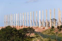 Colonne del calcestruzzo della costruzione Immagini Stock