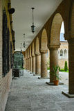 Colonne del castello di Mogosoaia Fotografie Stock
