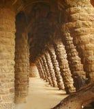Colonne del Parc Guell di Gaudi Fotografia Stock
