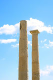 Colonne del tempiale dell'Apollo a Amathus Fotografia Stock