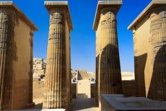 Colonne del tempiale a Saqqara Fotografie Stock Libere da Diritti