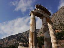 Colonne Delfi - in Grecia Fotografia Stock Libera da Diritti