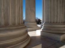 Colonne della Corte suprema Fotografia Stock Libera da Diritti