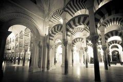 Colonne della moschea di Mezquita Immagini Stock