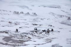 Colonne della roccia su Severnaya Zemlya in Artide Fotografia Stock Libera da Diritti