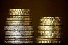 Colonne delle monete Immagini Stock Libere da Diritti