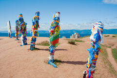 Colonne di Buryat Fotografia Stock