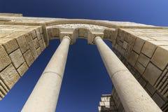 Colonne di grande basilica di Pliska fotografia stock
