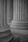 Colonne nella Corte suprema degli Stati Uniti Immagine Stock