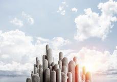 Colonne di pietra multiple con paesaggio strabiliante Fotografie Stock