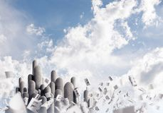 Colonne di pietra multiple con paesaggio strabiliante Fotografia Stock Libera da Diritti