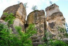 Colonne di pietra naturali Fotografia Stock