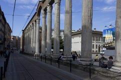 Colonne di San Lorenzo i Milan arkivfoton