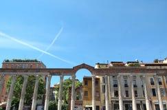 Colonne Di San Lorenzo, Milaan stock foto