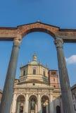 Colonne Di San Lorenzo, Milaan, Lombardije, Noordelijk Italië stock afbeelding